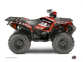Yamaha 700-708 Grizzly ATV Eraser Graphic Kit Red White