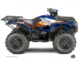 Yamaha 700-708 Kodiak ATV Eraser Graphic Kit Blue Orange