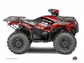 Yamaha 700-708 Kodiak ATV Eraser Graphic Kit Red White