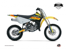 Kit Déco Moto Cross Eraser Suzuki 85 RM Bleu - Jaune LIGHT