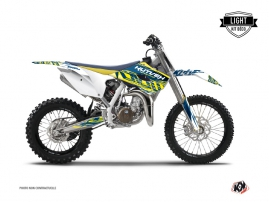 Kit Déco Moto Cross ERASER Husqvarna TC 85 Jaune Bleu LIGHT