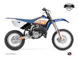 Kit Déco Moto Cross Eraser Yamaha 85 YZ Bleu Orange LIGHT