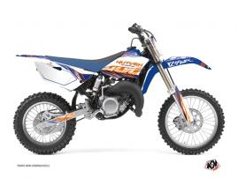 Kit Déco Moto Cross Eraser Yamaha 85 YZ Bleu Orange