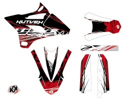 Yamaha 85 YZ Dirt Bike Eraser Graphic Kit Red White LIGHT