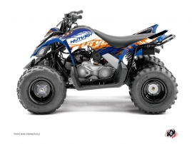 Kit Déco Quad Eraser Yamaha 90 Raptor Bleu Orange