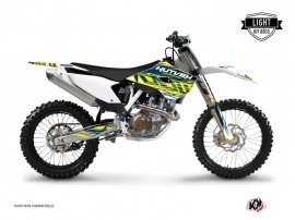 Kit Déco Moto Cross Eraser Husqvarna FC 250 Jaune Bleu LIGHT