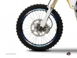 Kit Déco Tour de jantes Moto Cross Eraser Bleu