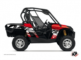 Can Am Commander UTV Eraser Graphic Kit Red White