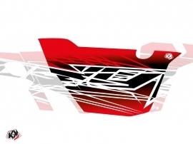 Kit Déco Portes Cabine Defender Eraser Can Am Commander 2011-2017 Rouge Blanc