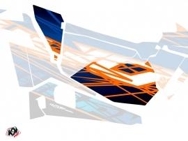 Kit Déco Portes Basses Dragonfire Eraser SSV Polaris RZR 900S/1000/Turbo 2015-2017 Bleu Orange