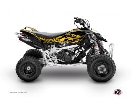Can Am DS 450 ATV Eraser Graphic Kit Yellow Black