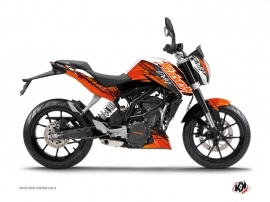 KTM Duke 125 Street Bike Eraser Graphic Kit Orange Black