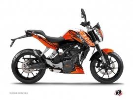 Kit Déco Moto Eraser KTM Duke 125 Orange Noir