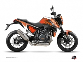 Kit Déco Moto Eraser KTM Duke 690 Orange Noir