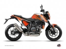 Kit Déco Moto Eraser KTM Duke 690 Orange Noir