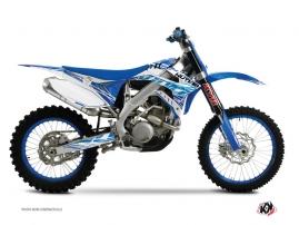 Kit Déco Moto Cross Eraser TM EN 300 Bleu