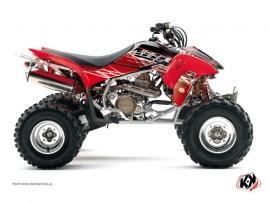 Kit Déco Quad Eraser Honda EX 400 Rouge Blanc