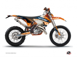 Kit Déco Moto Cross Eraser KTM EXC-EXCF Bleu Orange