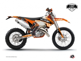 Kit Déco Moto Cross Eraser KTM EXC-EXCF Orange Noir LIGHT