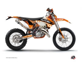 Kit Déco Moto Cross Eraser KTM EXC-EXCF Orange Noir