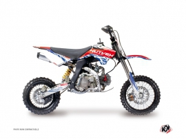 YCF F150 Dirt Bike Eraser Graphic Kit Red Blue
