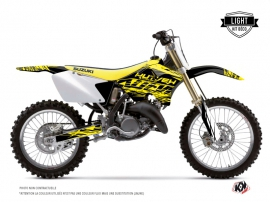 Kit Déco Moto Cross Eraser Fluo Suzuki 250 RM Jaune LIGHT