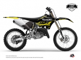 Kit Déco Moto Cross Eraser Fluo Yamaha 250 YZ Jaune LIGHT