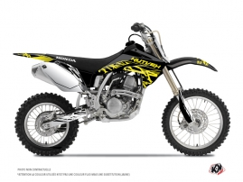Honda 125 CR Dirt Bike Eraser Fluo Graphic Kit Yellow