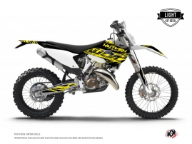 Kit Déco Moto Cross Eraser Fluo Husqvarna 125 TE Jaune LIGHT