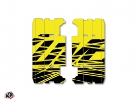 Graphic Kit Radiator guards Eraser Fluo Dirt Bike Yamaha 125 YZ 2015-2016 Yellow