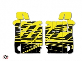Graphic Kit Radiator guards Eraser Fluo Honda 250 CRF 2014-2016 Yellow