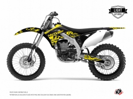 Kit Déco Moto Cross Eraser Fluo Kawasaki 250 KXF Jaune LIGHT