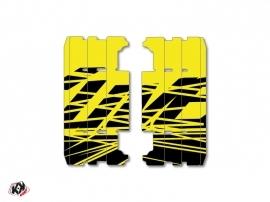 Graphic Kit Radiator guards Eraser Fluo Yamaha 250 YZ 2015-2016 Yellow