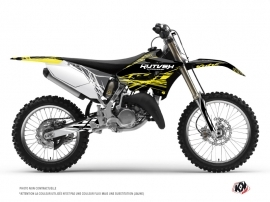 Yamaha 250 YZ Dirt Bike Eraser Fluo Graphic Kit Yellow
