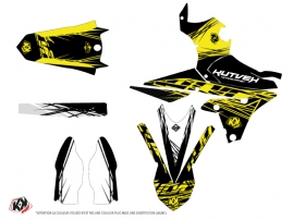 Yamaha 250 YZF Dirt Bike Eraser Fluo Graphic Kit Yellow LIGHT
