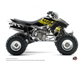 Honda 400 TRX ATV Eraser Fluo Graphic Kit Yellow