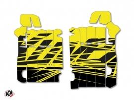Graphic Kit Radiator guards Eraser Fluo Honda 450 CRF 2013-2016 Yellow