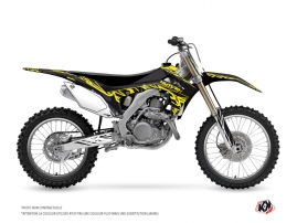 Honda 450 CRF Dirt Bike Eraser Fluo Graphic Kit Yellow
