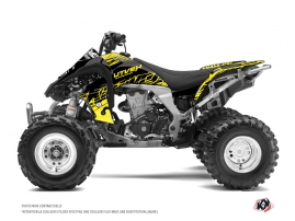 Kawasaki 450 KFX ATV Eraser Fluo Graphic Kit Yellow