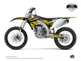 Kit Déco Moto Cross Eraser Fluo Kawasaki 450 KXF Jaune LIGHT