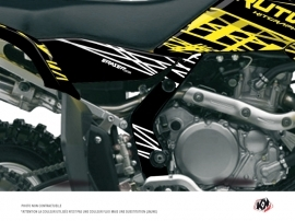 Kit Déco Protection de cadre Quad Eraser Fluo Suzuki 450 LTR Jaune