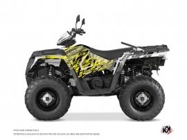 Polaris 450 Sportsman ATV Eraser Fluo Graphic Kit Yellow