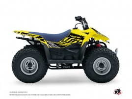 Suzuki 50 LT ATV Eraser Fluo Graphic Kit Yellow