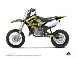 Kit Déco Moto Cross Eraser Fluo Kawasaki 65 KX Jaune