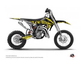 Kit Déco Moto Cross Eraser Fluo KTM 65 SX Jaune
