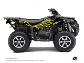Kawasaki 650 KVF ATV Eraser Fluo Graphic Kit Yellow