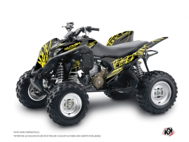 Honda 700 TRX ATV Eraser Fluo Graphic Kit Yellow