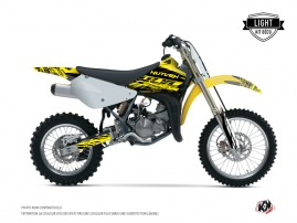 Kit Déco Moto Cross Eraser Fluo Suzuki 85 RM Jaune LIGHT
