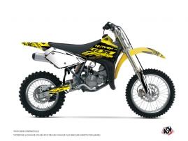 Kit Déco Moto Cross Eraser Fluo Suzuki 85 RM Jaune