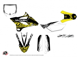 Yamaha 85 YZ Dirt Bike Eraser Fluo Graphic Kit Yellow